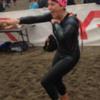 cathy-ironman-swimming-finish