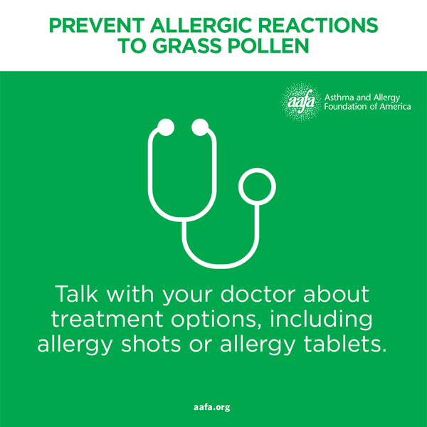 Talk with your doctor about pollen allergy treatments