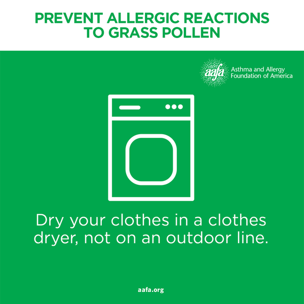 Dry your clothes in a dryer and not outside