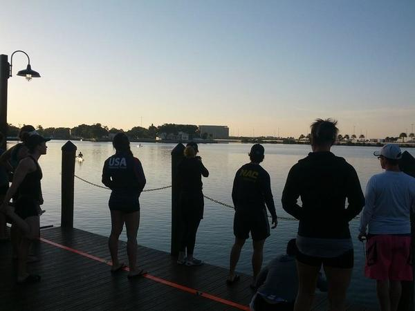 Premier Women candidates line up for time trials at dawn in Tampa, March 2015