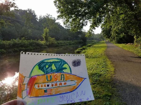 The Delaware and Raritan canal test site and a motivational message