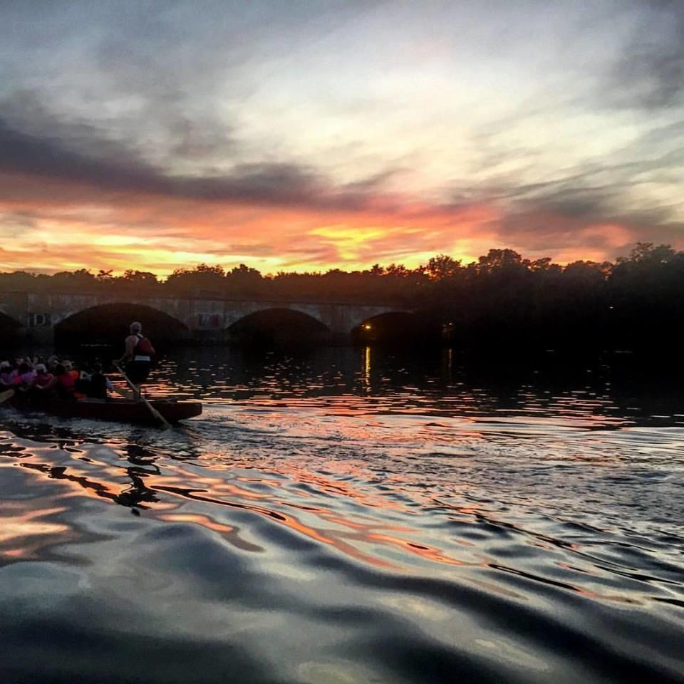 Team testing on the Schuylkill River, Philadelphia, August 2017