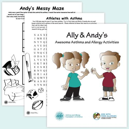 AAFA's Ally and Andy's Activity Book