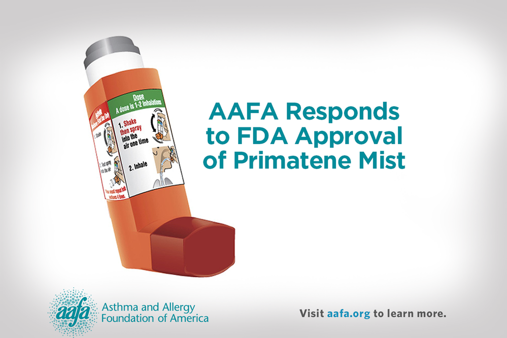 Aafa Issues Statement On Fda Approval Of Primatene Mist For Mild