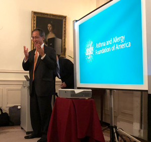 Kenneth Mendez, AAFA CEO and President, spoke as AAFA and ASL met to celebrate the award.