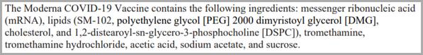 Moderna COVID-19 Vaccine Ingredients