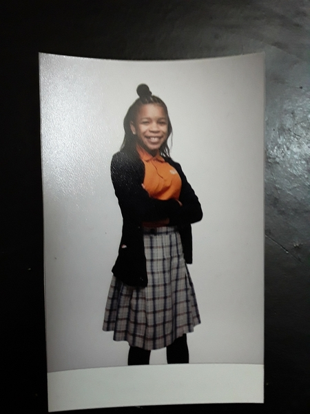 Adaora on school picture day (2018)