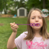 elena-bubbles-blog: AAFA blows bubbles in honor of people who have died from asthma and allergies