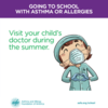 Visit your child's allergist during the summer: Visit your child's allergist during the summer