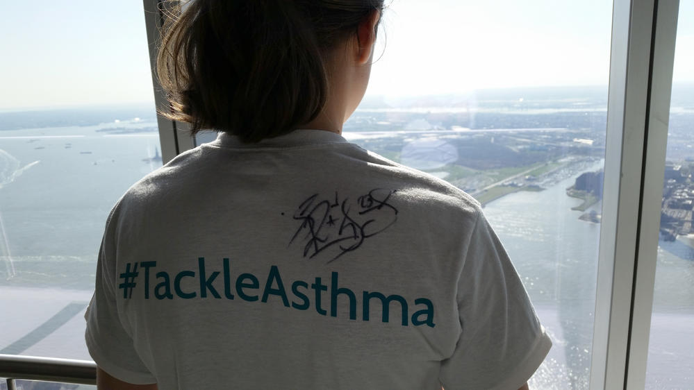 Tristan Can #TackleAsthma at the Freedom Tower