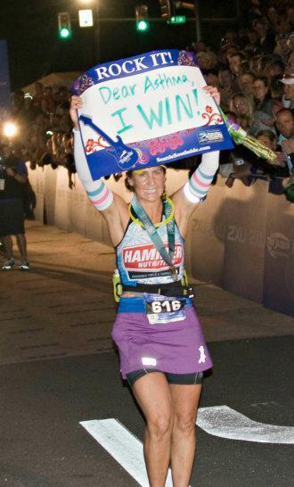 Ironman Cathy Victory Lap!