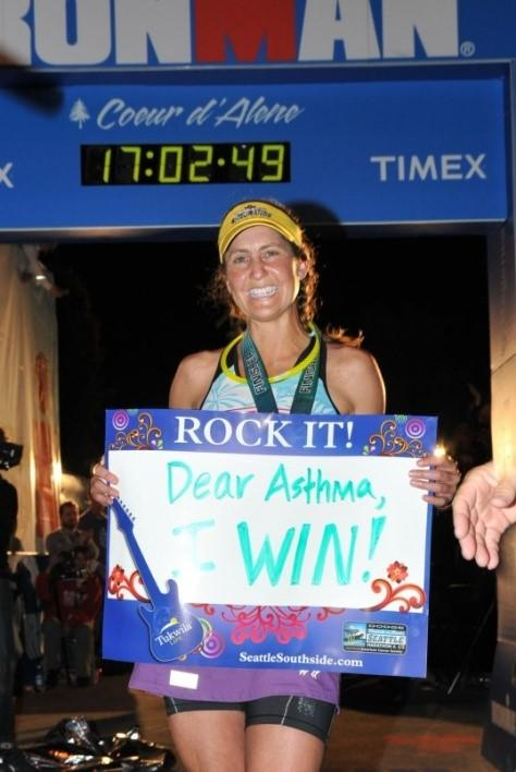 Ironman Cathy - How I #TackleAsthma