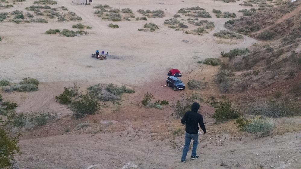 Camping in the Mojave
