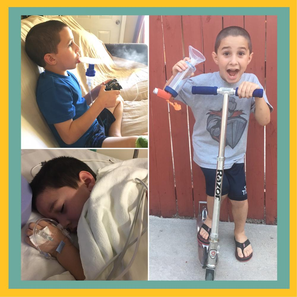 Eli fights Asthma & Allergies like a pro!