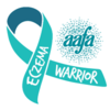 Eczema Awareness Ribbon: Eczema Warrior teal