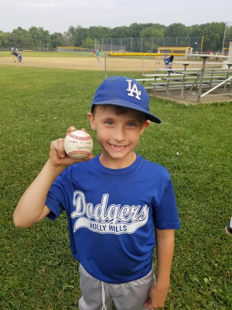 Aiden getting the game ball as the MVP