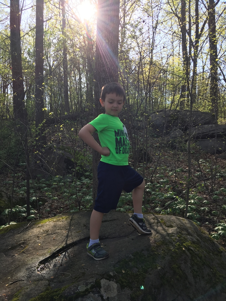 Sharing the great outdoors with my nephew
