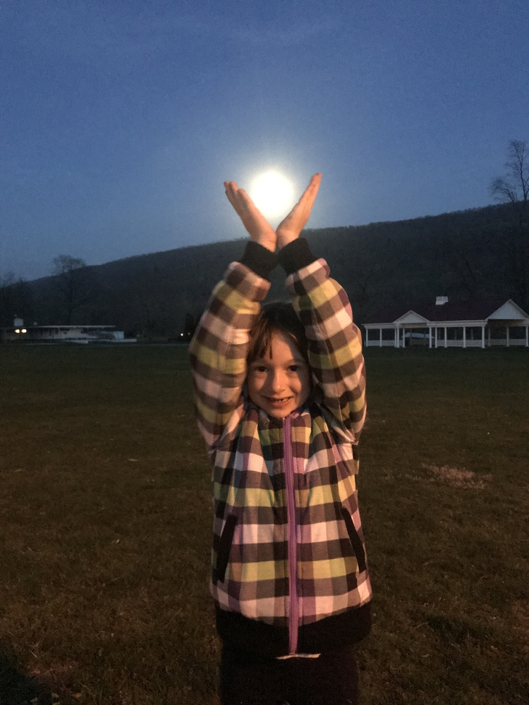 Catching the moon!