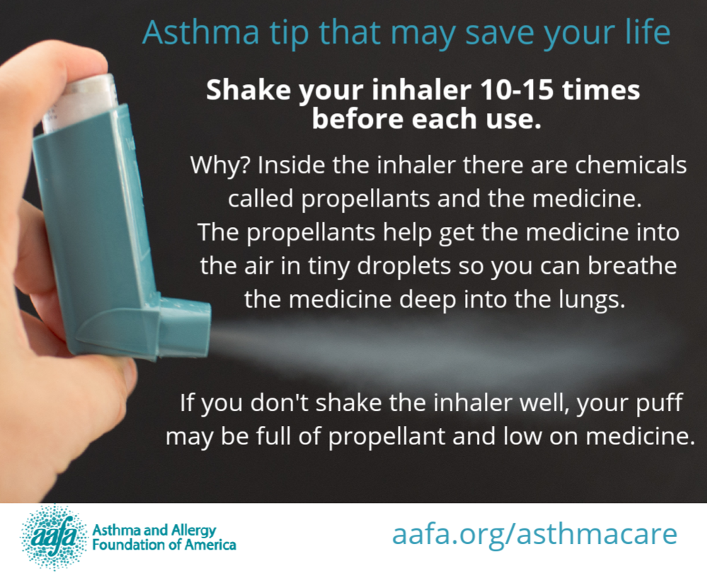 Asthma Tip: Shake Your Inhaler