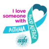 I Love Someone With Asthma and Food Allergies Ribbon