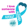 I Love Someone With Asthma and Allergies Ribbon