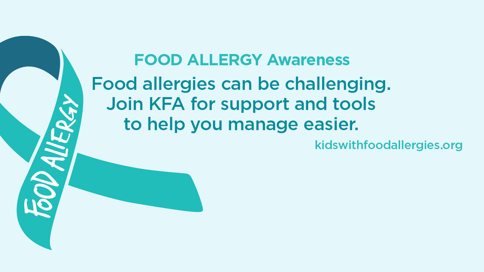 Food Allergy Awareness Join KFA for Support Facebook Cover