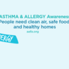 Asthma and Allergy Awareness - Clean Air (Facebook)
