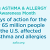 Asthma and Allergy Awareness - Month 31 Days of Action (Twitter)
