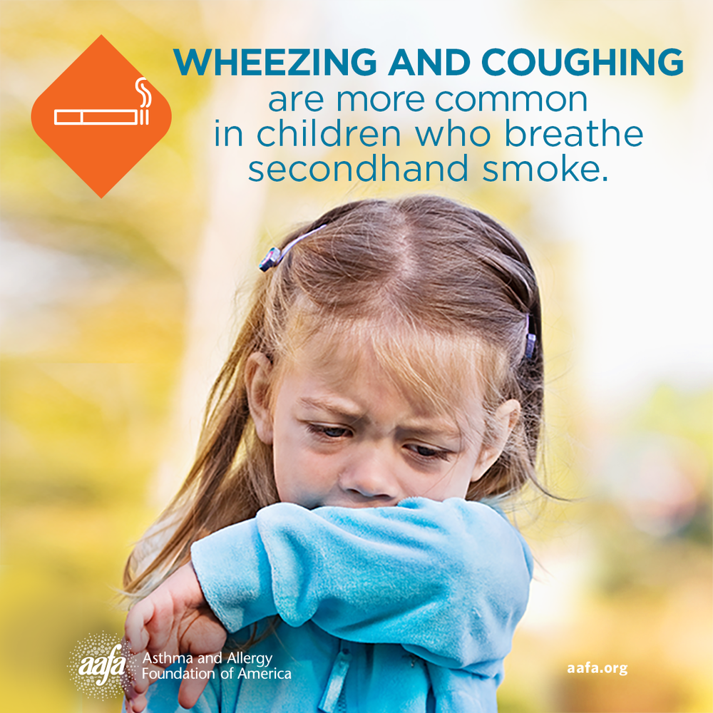 Asthma Education: Asthma Symptoms in Children from Secondhand Smoke