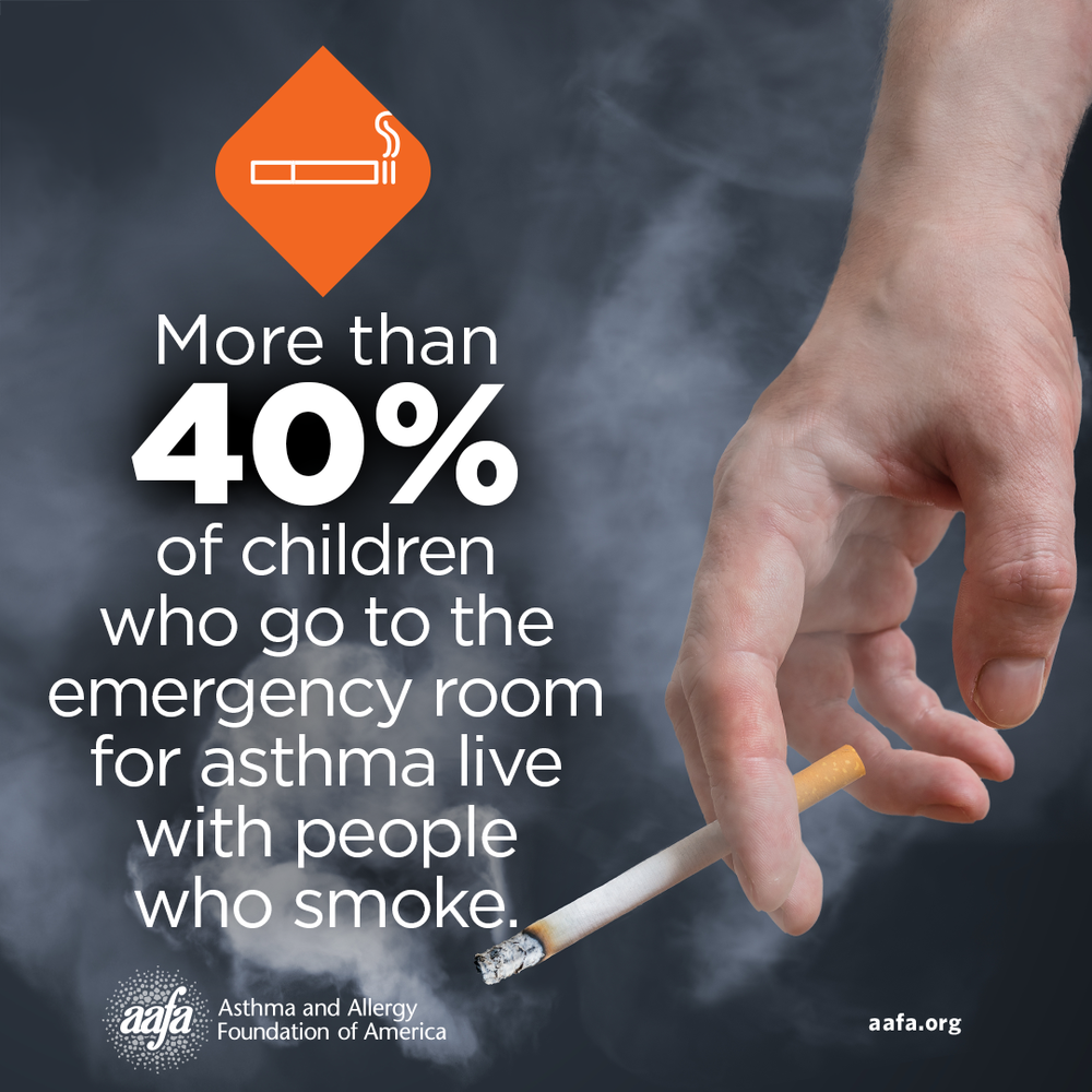 Asthma Education: ER Visits for Children Who Live With People Who Smoke